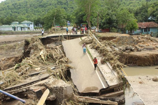 None Was Killed When Flash Flood Swept Bima