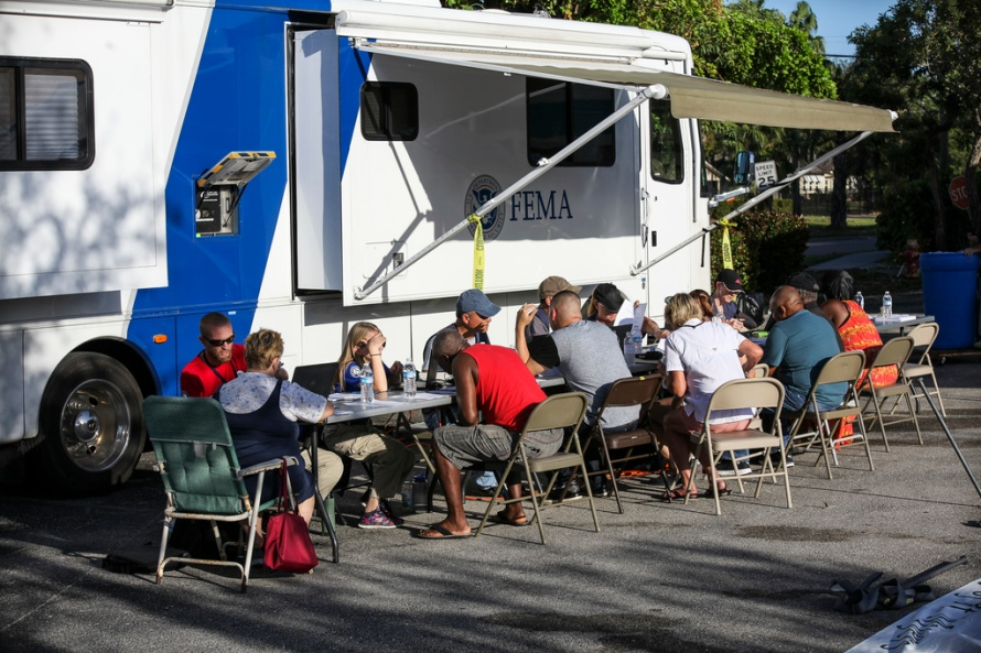 Hurricane Irma Survivors Register at FEMA Event in Fort Myers, Florida